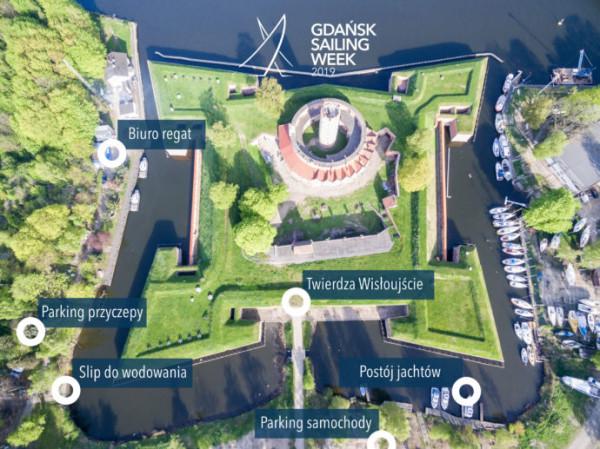 Mapa sytuacyjna Gdańsk Sailing Week 2019