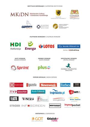 Fundacja Theatrum Gedanense i Gdański Festiwal Szekspirowski serdecznie dziękują powyższym firmom i instytucjom
