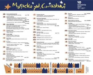 Program święta oraz plan ulicy Mariackiej
