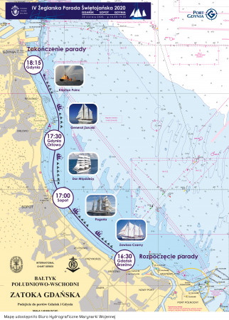 Mapę udostępniło Biuro Hydrograficzne Marynarki Wojennej.