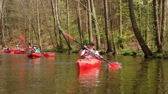 Reda to idealna rzeka dla średniozaawansowanych kajakarzy. Można ją spłynąć kajakiem dwuosobowym lub jedynką.