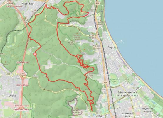 30 km trasa wieść będzie przez liczne punkty widokowe, z których rozpościerają się malownicze widoki na trójmiejską aglomerację, okoliczne lasy oraz wody Zatoki Gdańskiej.