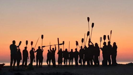 Morze Bałtyckie na godzinę przed wschodem słońca