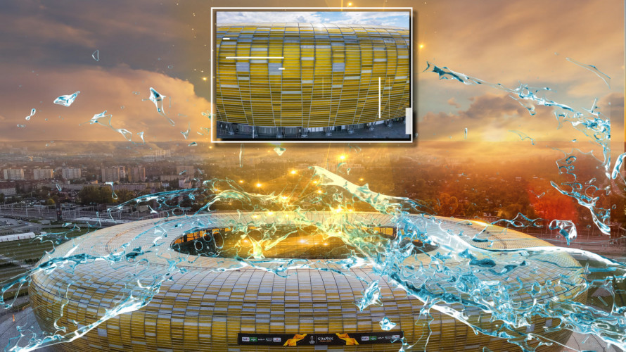 Wyświetlany na trybunach mapping ma opowiadać historię Gdańska i samego stadionu.