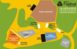 Mapa terenu festiwalu.