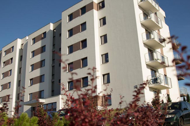 Jeden z dwóch budynków powstałych na osiedlu w 2012 roku.