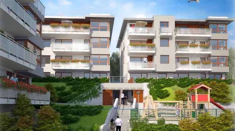 Budynki powstaną na wzniesieniu, z którego roztacza się panorama na okolicę i skupione będą wokół wewnętrznego dziedzińca.