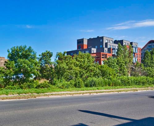 Pierwszy zrealizowany etap - widok od strony ul. Toruńskiej.