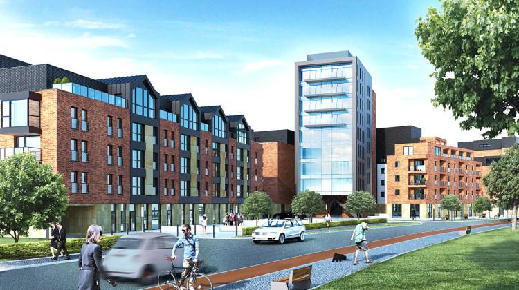 W drugim etapie powstanie budynek z dziewięciokondygnacyjną dominantą.