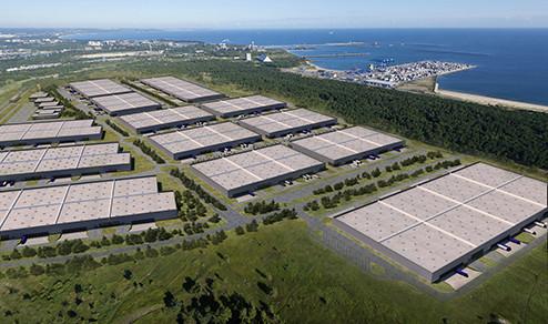 Centrum powstaje na powierzchni 110 ha, co czyni je największym tego typu parkiem logistycznym w regionie.