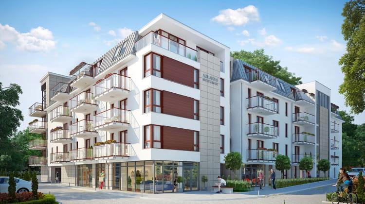Powstający budynek będzie miał lokale usługowe na parterze.