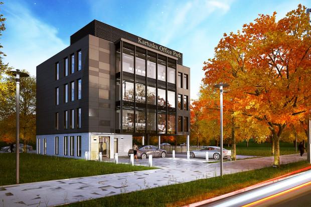 Pracownicy Kartuska Office Park przez okno widzieć będą otaczającą budynek zieleń, w którą obiekt zostanie wbudowany.