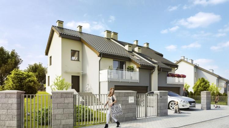Wizualizacja domów w zabudowie bliźniaczej.