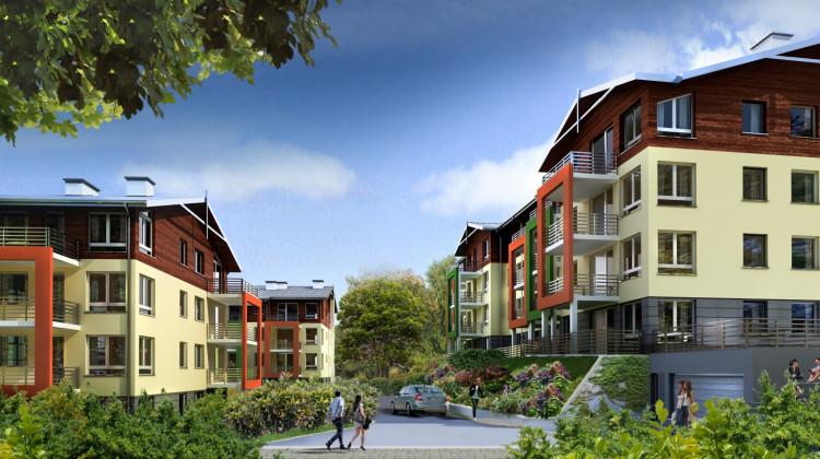 Budynki architektonicznie będą komponowały się z zielonym otoczeniem.