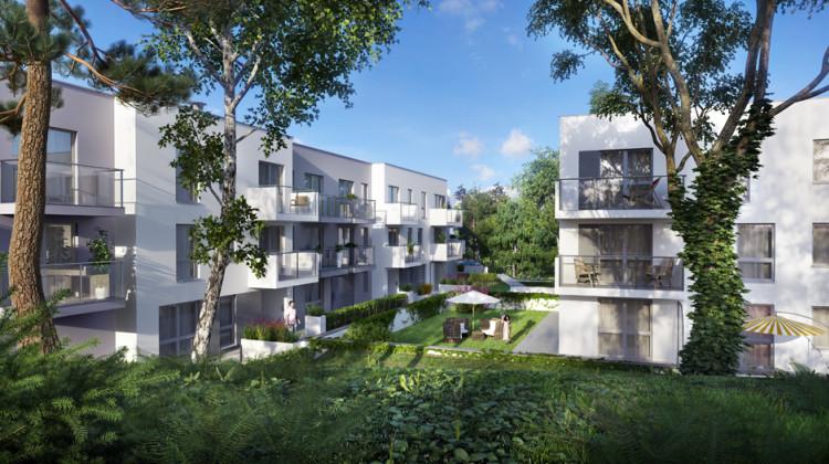 Minimalistyczna architektura wpisywać się będzie w zielone otoczenie osiedla.