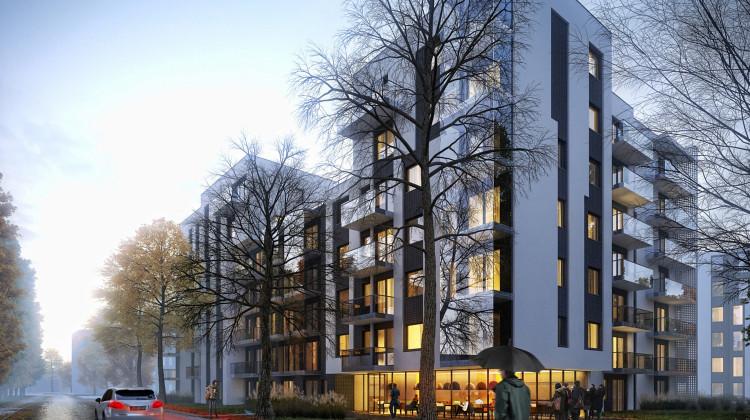 W parterach budynków mieszkalnych powstaną lokale usługowe.
