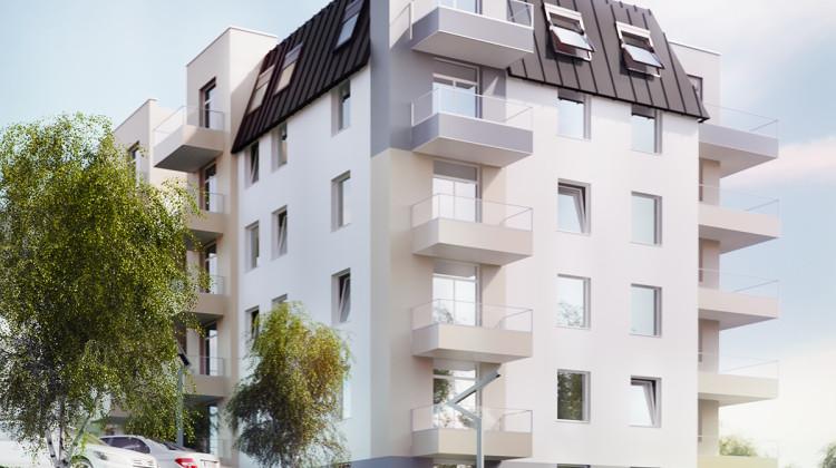 Na najwyższych kondygnacjach mieszkania będą miały subtelne skosy.