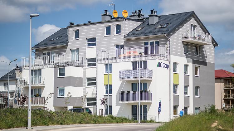 Budynek osiedla oddany do użytkowania w 2014 roku.