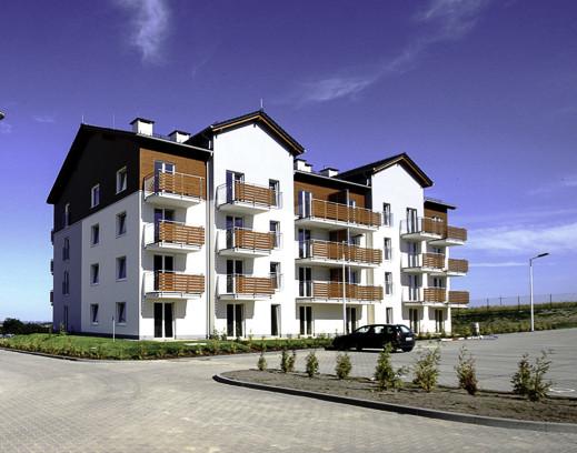 Budynki drugiego etapu osiedla są architektoniczną kontynuacją wcześniej powstałej zabudowy.