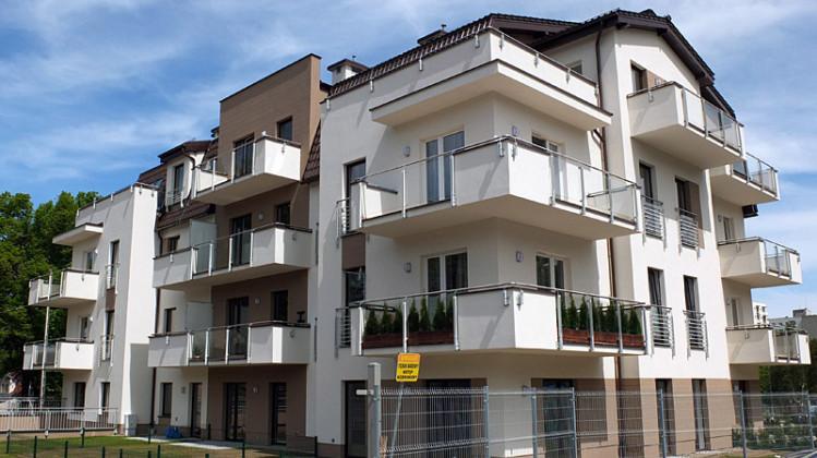 Pierwszy oddany do użytkowania w 2014 roku budynek osiedla.