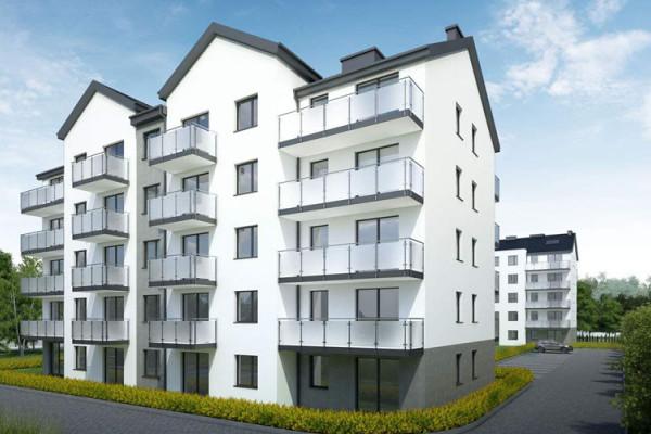 W ramach inwestycji powstaną cztery mieszkania dwupoziomowe.