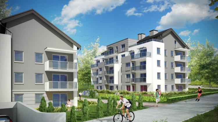 W budynkach zaprojektowano bardzo zróżnicowane lokale - mieszkania z ogródkami, balkonami, dużymi tarasami a także na poddaszach.