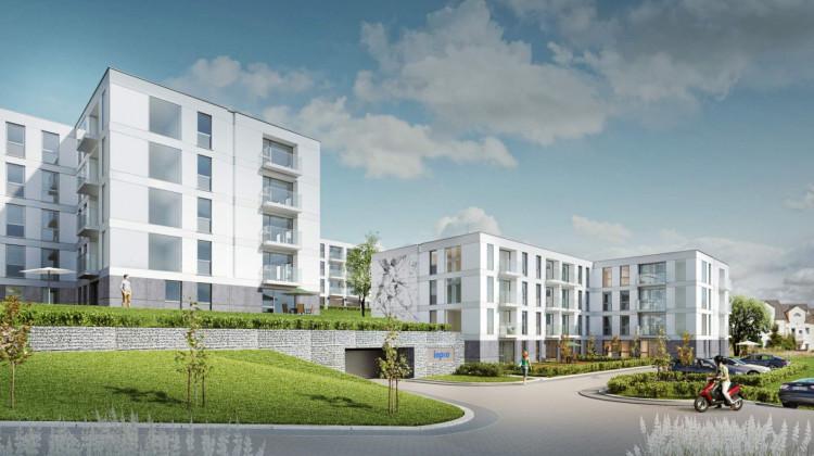 W ramach osiedla powstanie siedem budynków o przejrzystej architekturze.