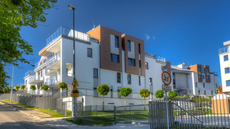 Zrealizowane do 2015 roku budynki pierwszego etapu osiedla.