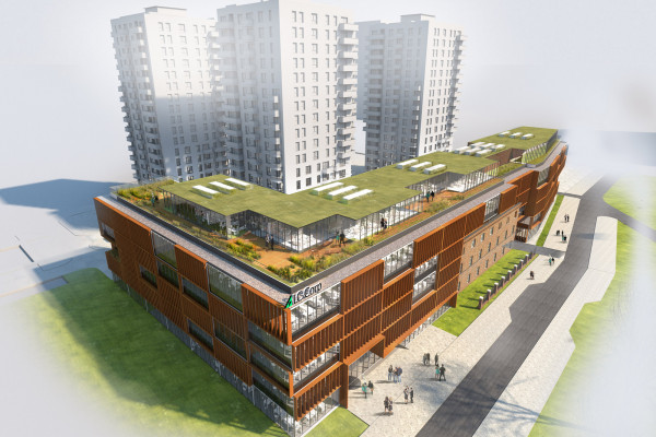 Poprzedni projekt zabudowy wzdłuż ul. Wałowej.