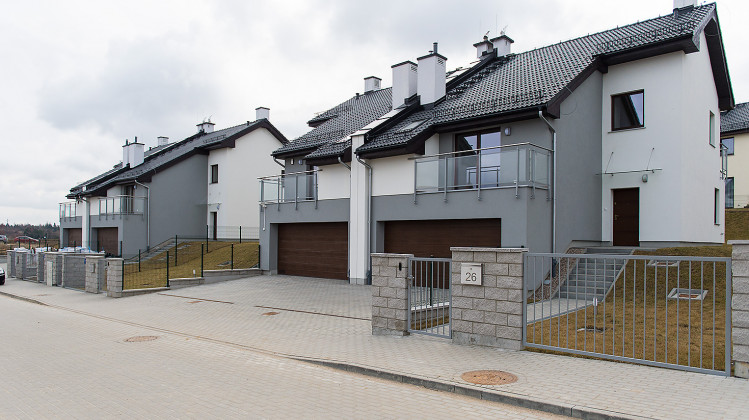 Domy jednorodzinne oddane na osiedlu w 2015 roku.