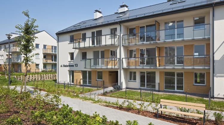 Budynki II etapu mieszkaniowej części osiedla oddane do użytkowania w 2015 roku.