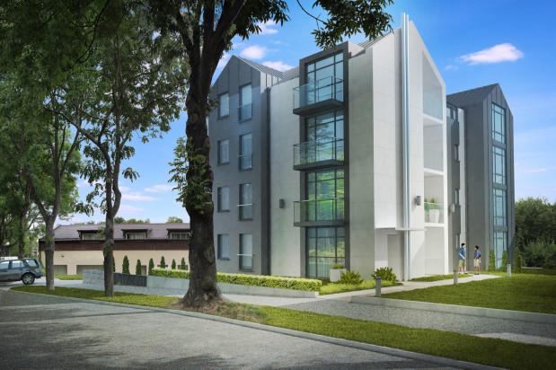 Na każdym piętrze budynku powstaną dwa mieszkania, na trzecim piętrze penthouse ze skosami.