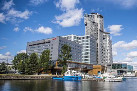 Budynki pierwszego etapu Waterfront wraz z Sea Towers tworzą nad Basenem Prezydenta nadmorską wizytówkę Gdyni.