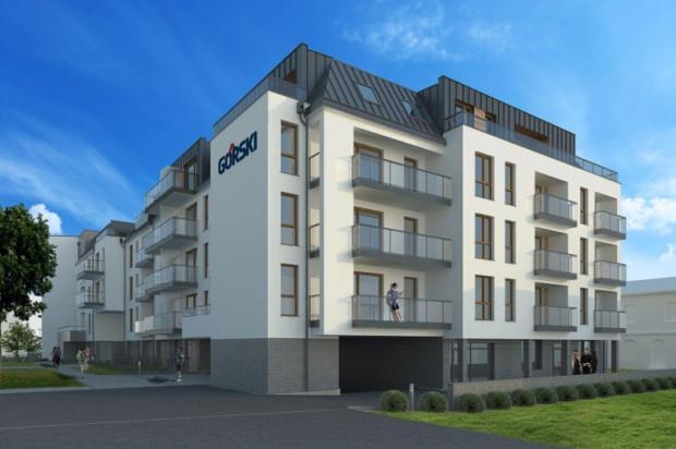 Stonowana architektura budynku będzie komponowałą się z otaczającą zabudową.