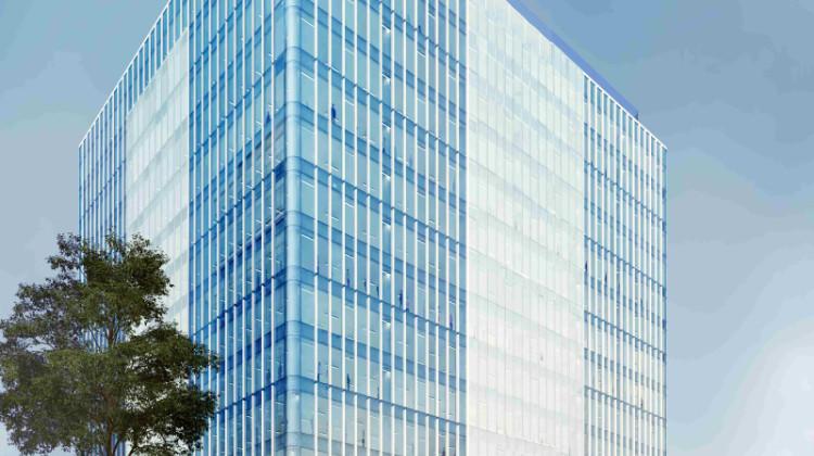 Olivia Seven. Koncepcyjna docelowo zmieniona, wizualizacja budynku.