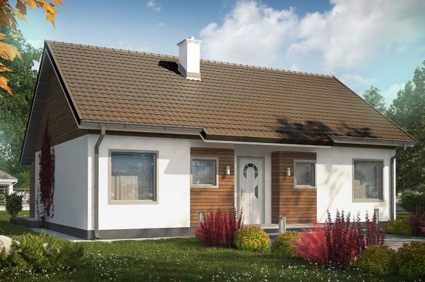 Tak wygląda pojedynczy dom, będą one łączone w zabudowę bliźniaczą.