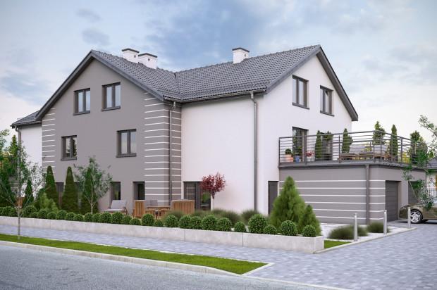 Każdy dom na trzy kondygnacje mieszkalne, przynależy do niego garaż.
