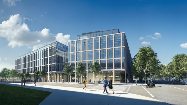 Pięciokondygnacyjne budynki otwierały będą od strony ulicy Waszyngtona nowy kwartał zabudowy.