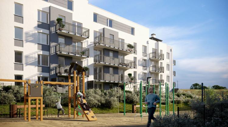 Wizualizacja budynków, które powstają w kolejnych etapach inwestycji.