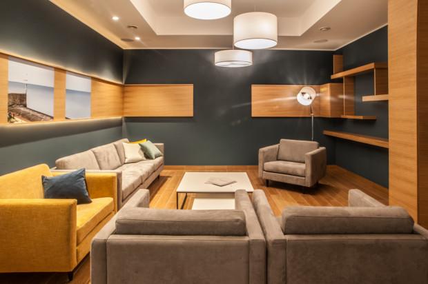 Pomieszczenie klubowe dostępne dla wszystkich mieszkańców inwestycji.