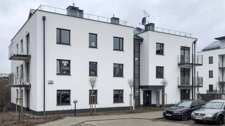 Jeden z trzech budynków osiedla oddany do użytkowania w 2017 roku.