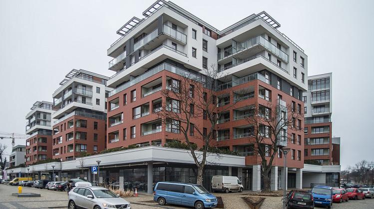 Oddany do użytkowania w 2017 roku kwartał zabudowy mieszkaniowo-biurowej.