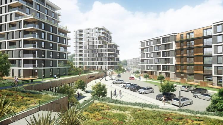 Na osiedlu poza zabudową mieszkaniową powstanie także część usługowa oraz tereny rekreacyjne.