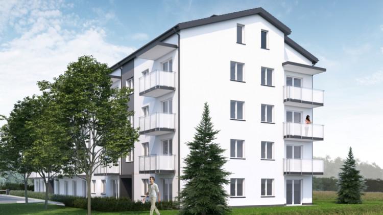 Na najwyższych kondygnacjach budynku powstaną mieszkania dwupoziomowe.