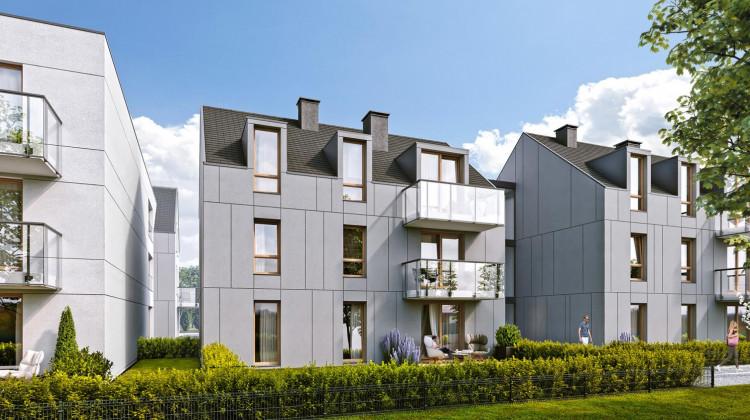 Budynki osiedla wykończone są w wysokim standardzie.