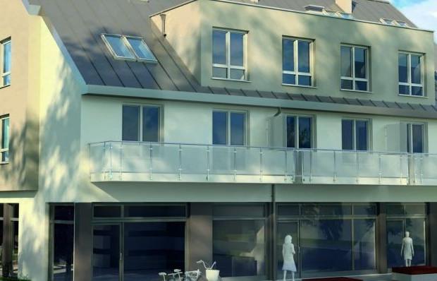 Budynek będzie miał dwie kondygnacje mieszkalne i parter z lokalami użytkowymi.