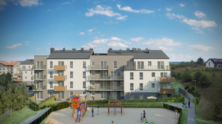 Osiedle będzie się składało z trzech budynków. Powstanie tu także plac zabaw dla dzieci.