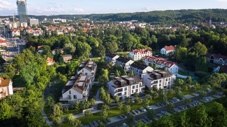 Osiedle będzie sąsiadowało z Parkiem Oliwskim, z części budynków będzie rozciągał się widok na ogród japoński.