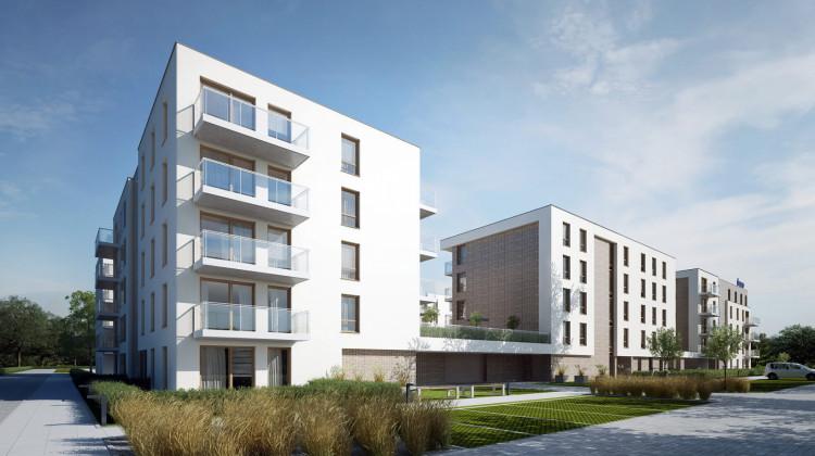 Budynki oddane zostaną z otaczającą ją specjalnie zaprojektowaną zielenią.