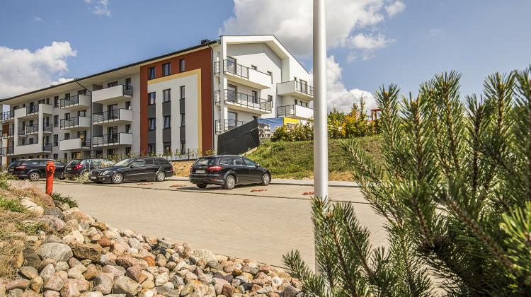 Budynek oddany na osiedlu w 2018 roku.